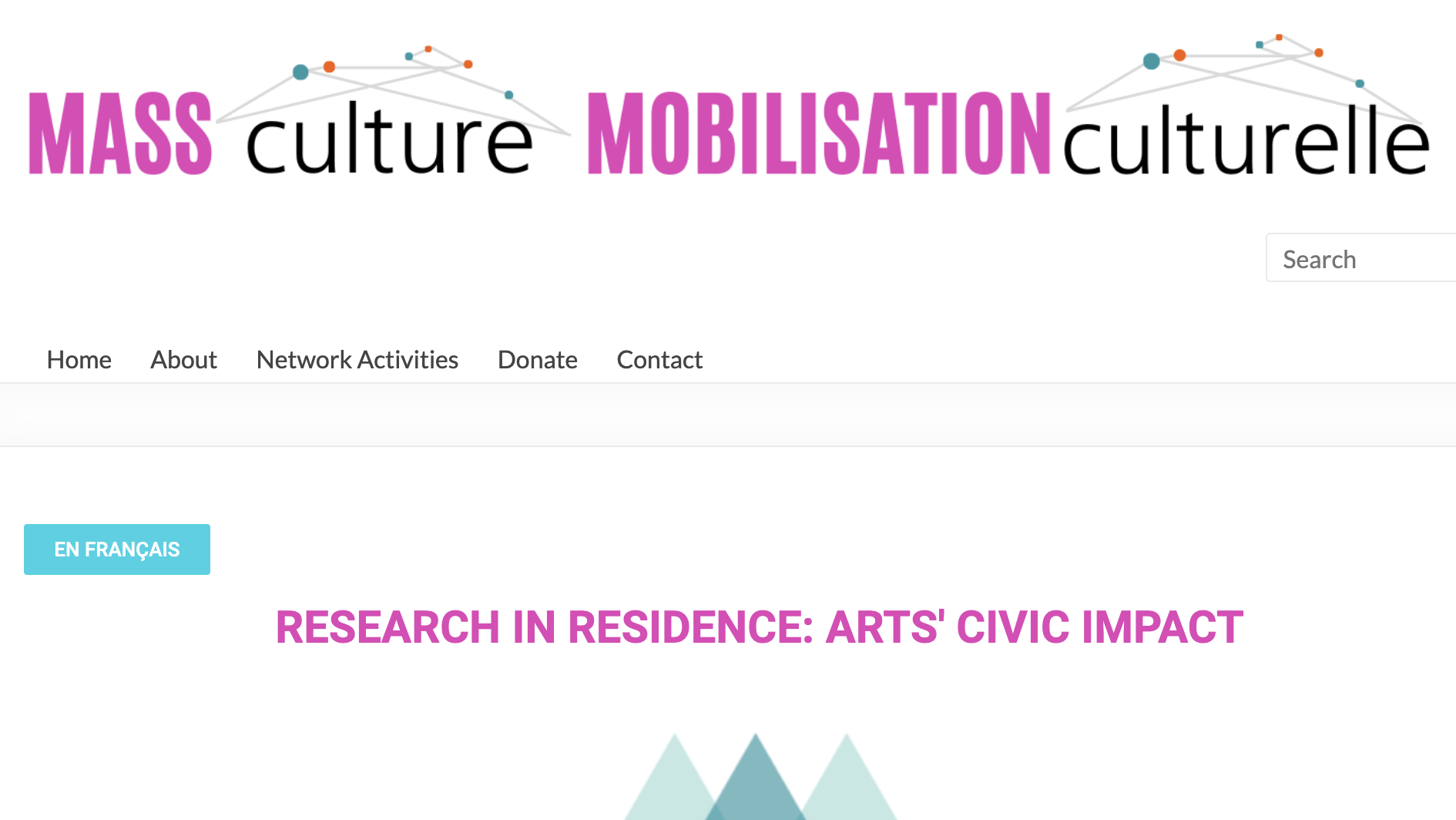 Research in Residence: Arts' Civic Impact